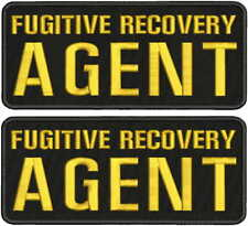 fugitive recovery agent PATCH 4X10 hook ON BACK blk/gold