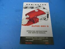 REMINGTON SUPER 880 G OPERATING INSTRUCTIONS AND SERVICE MANUAL