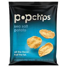 POPCHIPS Potato Chips Sea Salt Flavor .8 oz Bag 24/Carton 71100