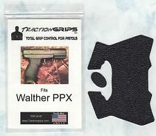 Tractiongrips brand grips for Walther PPX  / black rubber pistol grip set