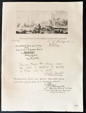 1926 - Lithographie Amiral W. L. Rodgers,Tuttle, Cornélius Vanderbilt, Connor,