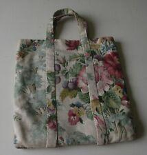 Vintage Handmade Shopping Bag in Sanderson Print Fabric