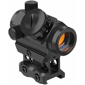 Tactical RDS-25 Red Dot Sight 2 MOA Micro Gun Sight Scope with Riser Mount