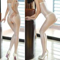 Body Bodystockings offen Pantyhose Weiß White transparent unisex glänzend