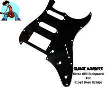 Black  Strat / Stratocaster SSH Pickguard 3-ply For FLOYD ROSE