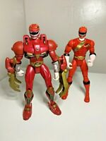 Power Rangers Wild Force Deluxe Red Rangers Action Figures Bundle Bandai Toys