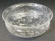 """Replacement Fostoria Etched Crystal Buttercup 5"""" Metal Basket Glass Bowl Liner"""