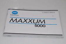 Original mode d'Emploi pour MINOLTA MAXXUM 5000 Manual English