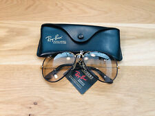 Vintage Ray Ban Aviators Leather B&L Sunglasses Bausch&Lomb USA 62mm Photo Bro