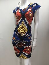 Country Road sz XXS Soft Stretch Bright Coloured Gathered Wiggle Dress AS NEW