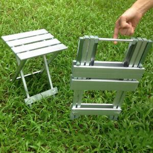 Aluminium Camping Picnic Camp Gear Folding Stool/Side Table