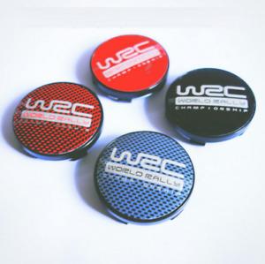 """4pc 60mm 2.36"""" WRC Emblem Wheel Center Hub Cap  Citroen Peugeot"""