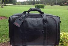 "Rare Tumi classic XXL Black Napa Leather 21"" Carry On Expandable Duffle Bag EUC"