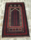 NICE Afghan Vintage Baluch Prayer Rug 165x100 cm Best Trible Baluch Prayer Rug