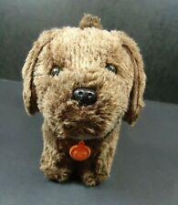 "American Girl Dog Chocolate Chip Lab Plush With Collar Name Tag 6"""