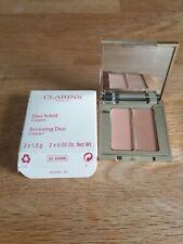 Clarins Bronzing Duo Mineral Powder Compact Bronzer 10 bright sun.2 x 1.5g