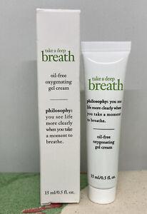 PHILOSOPHY Take a Deep Breath Oxygenating Eye Gel Cream .5oz Full Size NEW w/Box
