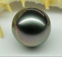 Perfect 16mm AAA tahitian genuine black Red surface tone loose pearl undrilled