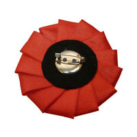 Broche - idée cadeau - Camée perles blanches strass dentelle noire satin rouge