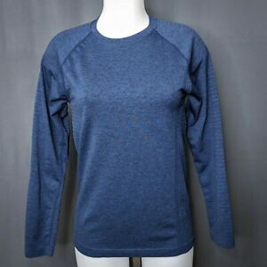 Figs Womens Underscrub Top Shirt Small Blue Cadiz Long Sleeve Breathable