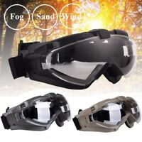 Anti-fog Dust Safety Glasses Eyewear Protective Shock Resistance Airsoft Goggles