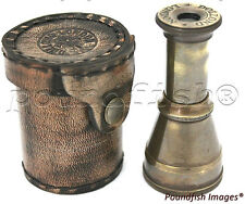 Dollond London Pocket Telescope  with Leather Box - Brass Pocket Telescope