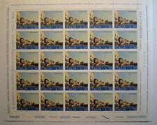 1973 ITALIA 20 lire   Salviamo Venezia   foglio intero MNH**