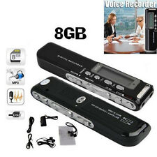 2pcs 8GB USB-LCD-Schirm-Digital-Sprachaufzeichnungsgerät-Diktaphon-MP3-Player