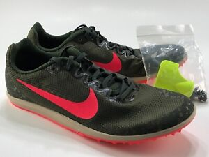 Nike Zoom Rival D 10 Distance Spikes Olive Crimson 907566-300 Unisex M 6.5/W 8