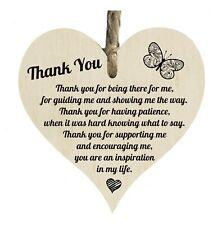 3b2702c22c Gracias por guiar me cita de madera placa de forma de corazón regalo signo  htc103
