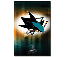 Rare SAN JOSE SHARKS Official NHL Hockey Team Logo WALL POSTER - LAST ONE!