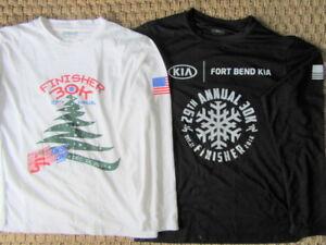 RUNNING RACE SHIRTS - long sleeve - men's - S/M - lot of 4