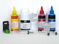 550 ml kit ricarica cartucce canon pg 40 cl 41  250 nero 3 x100 colore + refill