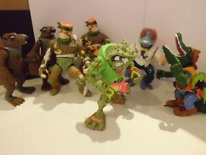 7 Figuren TMNT Teenage Mutant Ninja Turtles 80er Jahre