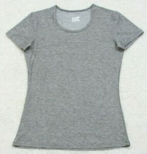32 Degrees Cool Gray Crewneck Athletic T-Shirt Tee Top Solid Gym Poly Spandex
