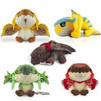 5x Monster Hunter Rathalos Rathian Tigrex Black Erision Stuffed Plush Doll Toys