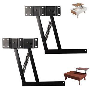 2 x Klappscharnier Klappenhalter Klappenbeschlag für Lift Up Tisch neu