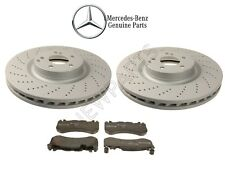 For Mercedes W204 C63 AMG 08-15 Front Brake Pads & Vented Drilled Rotors Kit OES
