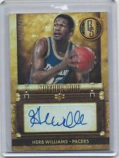 HERB WILLIAMS 2013-14 GOLD STANDARD MOTHER LODE PACERS AUTO #D 100/249