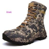 Men's Army Outdoor Combat Ankle Boots Camo Tactical SWAT Hiking Hunting Shoes