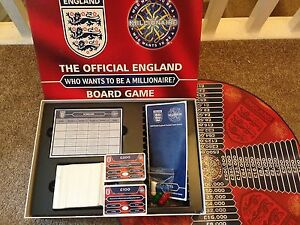 WHO WANTS TO BE A MILLIONAIRE England FC Football Edition ITV TV Show Board Game