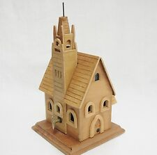 Handmade Wooden Church Music Box Plays Amazing Grace 8""