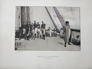 Fine Antique engraving/print Napoleon on the Bellerophon by W.Q. Orchardson R.A