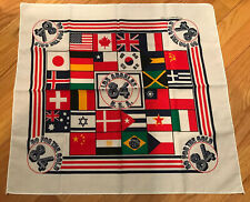 1984 Los Angeles LA Olympics Bandana Scarf Handkerchief Go For The Gold