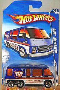 2010 Hot Wheels #116 HW City Works 8/10 GMC MOTORHOME Blue w/Chrome 5 Sp Variant