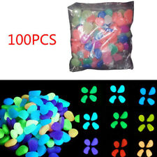 100pcs Glow in The Dark Stones FISH TANK AQUARIUM Pebbles Rock Garden Road Decor