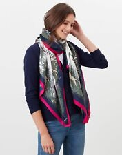 Joules Womens Louise Silk Scarf - Pheasant - One Size