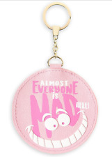 Cheshire Cat Keychain Oh My Disney Mad Here Alice in Wonderland Coin Pocket