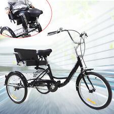 20Zoll Dreirad Räder Für Erwachsene Mit Einkaufskorb 3-Rad Fahrrad Mit Kindersit