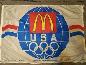 McDonald's Corporation Olympic Flag 1990 68x46 Official sponsor USOC